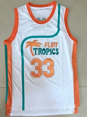 ff60cd6fc2fd Semi Pro Jackie Moon 33 Flint Tropics Basketball Jersey White All stitched