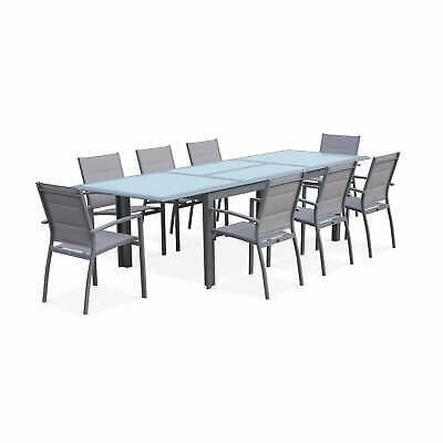 Salon de jardin table extensible - Philadelphie Gris clair - Table en aluminium