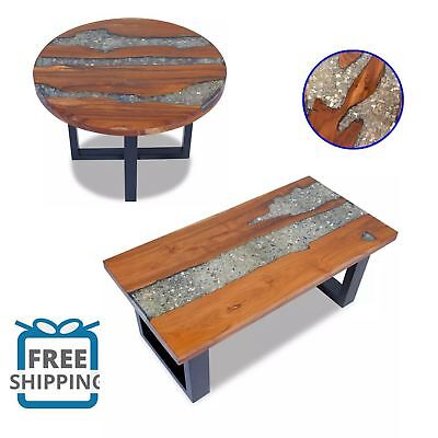 Coffee Table End Teak Resin Living Room Furniture Home Decor Round/Rectangle Hot