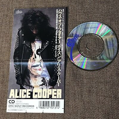 """ALICE COOPER House Of Fire c/w Poison JAPAN 3"""" CD SINGLE ESDA7013 Snapped/Folded"""
