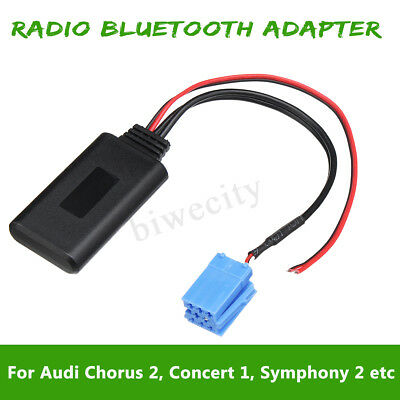 Radio Bluetooth AUX Adapter Cable for AUDI Chorus 2 Concert 1 2 Symphony 1