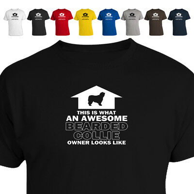 Awesome Bearded Collie Dog Lover Owner T Shirt Gift 018