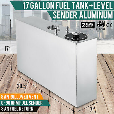 17-gallon aluminum fuel cell gas tank+level sender competition racing smaller