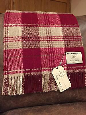 Bronte by Moon Throw 100% Wool Slight Seconds Checked Various colours
