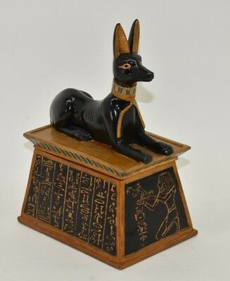 Ancient Egyptian Anubis Jackal God of the Afterlife Jewelry Trinket Box Large