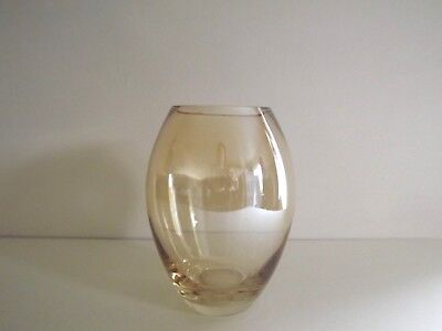 Pale Amber Glass Vase
