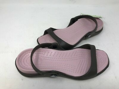 NEW! Crocs Women's Cleo Sandals Chocolate/Cotton Candy Size:8 140F z