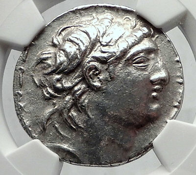 ANTIOCHOS VII Sidetes Seleukid Ancient Silver Greek TETRADRACHM Coin NGC i64320