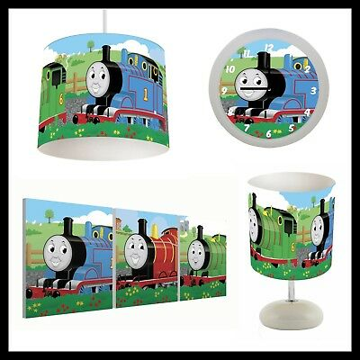 THOMAS THE TANK ENGINE (015) - Boys Bedroom - Lampshade, Lamp, Clock & Pictures