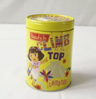 Round Coin Bank Dora The Explorer  Climb To The Top Tin Box Co.