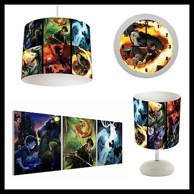 HARRY POTTER (063) - Kids Bedroom - Lampshade, Lamp, Clock & Pictures