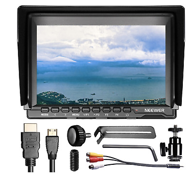 """Neewer NW759(C) 7"""" 1280x800 IPS Camera Field Monitor with Carrying Case for DSLR"""
