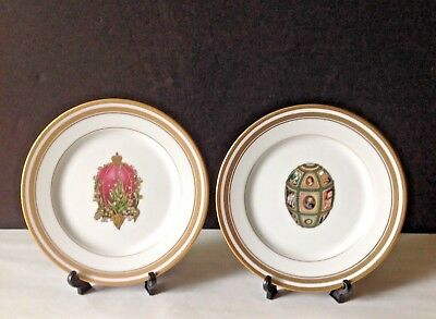 Lot VTG FABERGE Imperial Fifteenth Anniversary Egg & Lilies of the Valley Plates
