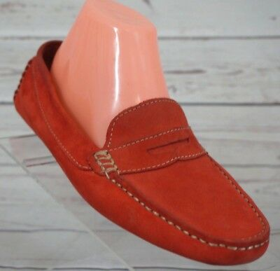 46ef5bde87a MERCANTI FIORENTINI SHOES Women s 10M Leather Penny Loafer Coral Driving  Moc -  29.97