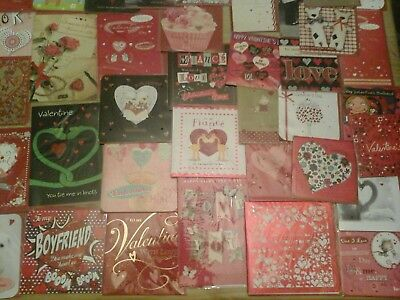 130 Top Valentines Cards, Wholesale Joblot Greeting Cards