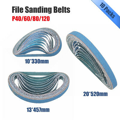520x20,13x457,330x10mm Sanding Belts P40 / 60 / 80 / 120 Power File Long Lasting