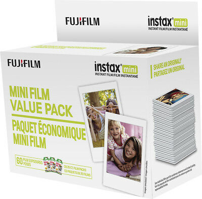 Fujifilm - instax Mini Film Value Pack (60 Sheets) - White