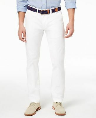 1115aacd $290 BLOOMINGDALE'S MEN WHITE TAILORED FIT STRETCH CASUAL CHINO ...