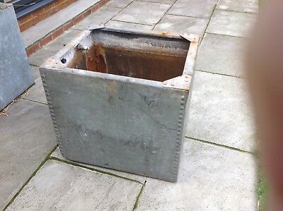 Galvanised Steel Rivetted Water Tank Large Garden Feature Planter