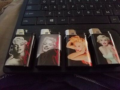 Marilyn Monroe Djeep Lighter Set Of 4 Made In France Disposable