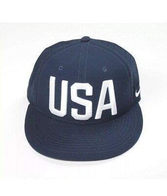 971932d23b9 Nike Youth Unisex Olympic Team USA Perforated Hat Snapback Cap Navy Blue  White