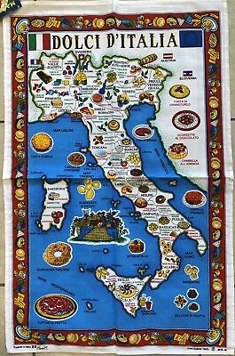 Tea Towel Of Italy 33x22 Inch-100% Cotton-SWEETS OF ITALY