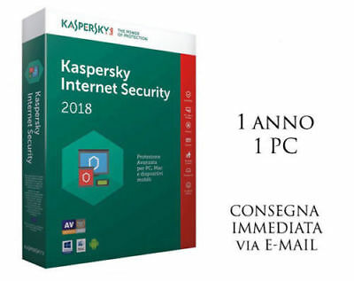 Kaspersky Internet security 2018, 1 PC, 1 Anno Antivirus ESD