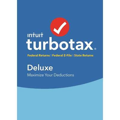 TurboTax Deluxe Federal + E-File + State 2018 - Mac|Windows
