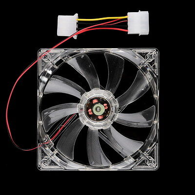 Easy Installed NEw 80mm Fans 4 LED Blue for Computer PC Case Cooling Fan Hot NS