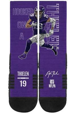 ADAM THIELEN MINNESOTA Vikings Hooked On A Thielen #19 NFL Socks  hot sale