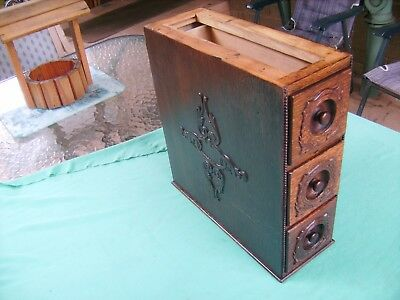 """3 X ANTIQUE""""SINGER""""SEWING MACHINE DRAWERS & CRADLES in GOOD  CONDITION 1919"""