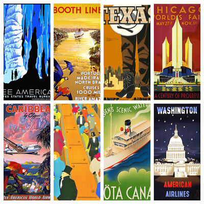 Art Deco Travel Posters Lovely Vintage Retro Holiday Tourism Art Prints A4 & A5