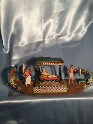 3 Fabulous Vernese Egyptian Resin Sculptures Signed