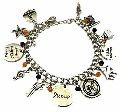 Broadway's Musical Hamilton 12 Themed Metal Charm Bracelet