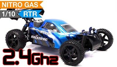 1/10 2.4Ghz Exceed RC Hyper Speed Off Road Buggy RTR .16 Nitro Engine storm Blue