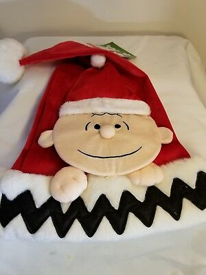 Snoopy Christmas Peanuts Charlie Brown Santa Hat 2016 New Red Cute!