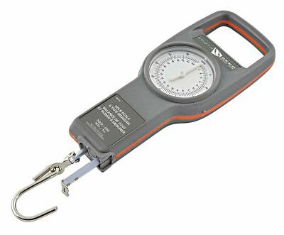 """South Bend Fishing 50lb Dial Scale w/40"""" Tape Measure / Ruler, Shows Lbs & Kg"""