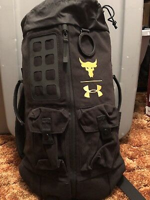 81f2e8af7b46 UA X Under Armour Project Rock Dwayne Johnson 60 Black Duffle Bag Backpack  NWT