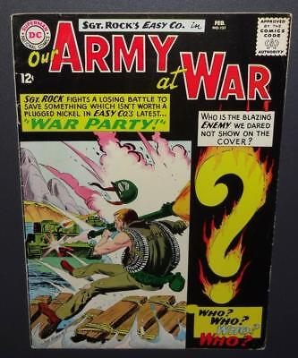 Our Army At War #151 1965; 7.5-8.0 DC; 1st app Enemy Ace by Kubert-BV$326 50%Off