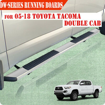 """For 05-19 Toyota Tacoma Double Cab 5.5"""" Running Board Side Step Nerf Bar S/S DW"""