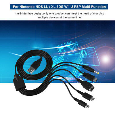 For Nintendo 5 in 1 USB Charging Cable Charger NDS LL / XL 3DS Multi-Function UK