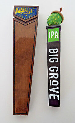 IOWA BREWERY TAP HANDLE Big Grove IPA Solon Backpocket Coralville Hawktoberfest
