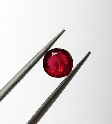 0.56 Ct Natural Red Color Spinel Loose Round Cut Old Burma Certified Gemstone A+
