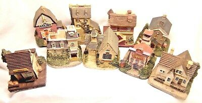 9 Liberty Falls 1800s Town Christmas  Village 5 Pewter People Church Bank School