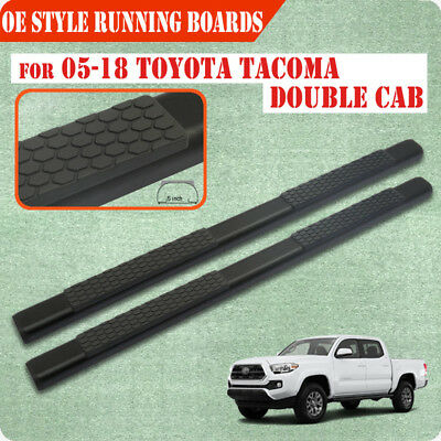 """FOR 05-19 Toyota Tacoma Double Cab 5.5"""" Running Board Side Step Nerf Bar BLK DA"""