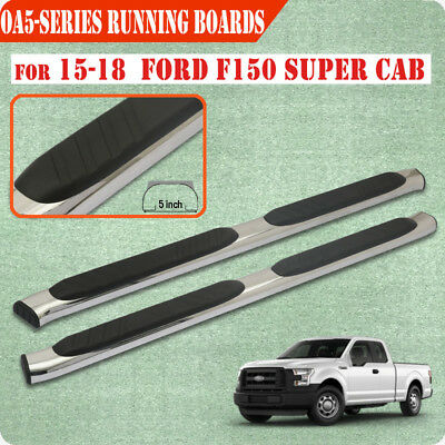 For 15-19 Ford F150 Super Cab 5 Inch Running Board Nerf Bar Side Step S/S OA