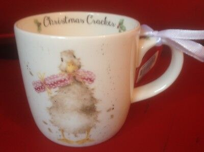 "Royal Worcester Wrendale ""Christmas Cracker"" Duck mug cup New Fine Bone China"