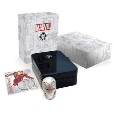 2019 Fiji $5 MARVEL IRON MAN MASK 2oz High Relief Antiqued Silver Coin
