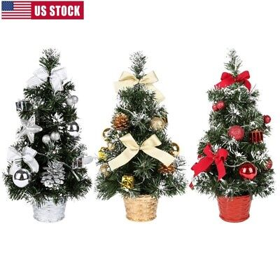 40cm Battery Mini Table Top Christmas Tree Decoration LED Decor Home Xmas Door