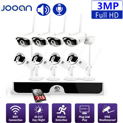 JOOAN Wireless WIFI Security 1080P Camera HDMI 8CH NVR Video Home Outdoor System
